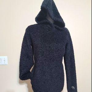 Mountain Hardware black fuzzy hoodie